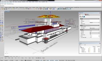 VisualARQ ist vollständig in Rhinoceros 3D integriert.