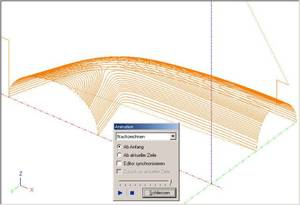 3D CNC-Programs in the CNC Backplot Editor