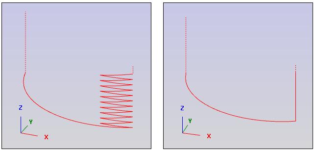 Eintauchen-Rampe-direkt-Backplot
